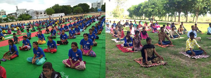 Deshpande Foundation Kakatiya Sandbox Nalgonda Sandbox International Yoga Day