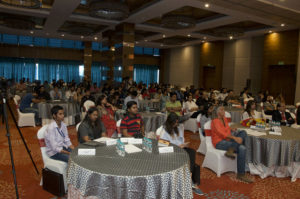 Audience listening to Ajay Suman Shukla's talk at the TEDx talk