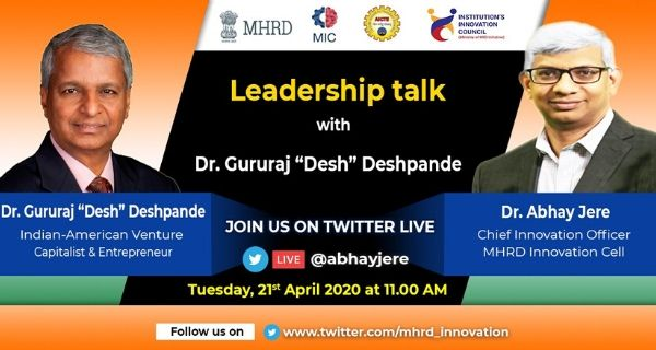 Dr Abhay Jere holds online session with Deshpande Foundation founder
